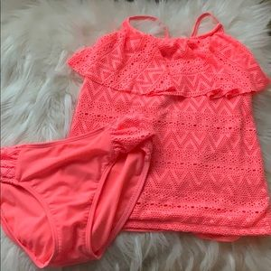 Girl's two piece (shirt made top)